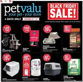 Pet valu Flyer November 23 – 26, 2017 Black Friday