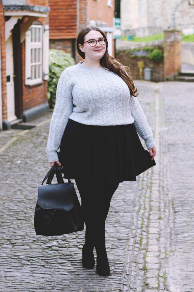 Plus size autumn outfit