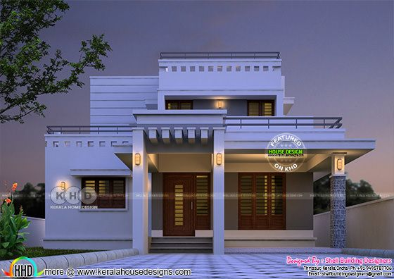 1660 square feet, 3 bedroom modern decorative home