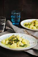 Acelgas con patatas al curry con leche de coco
