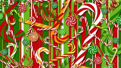 Kerst wallpaper met stafjes