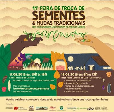 11ª Feira de troca de Sementes das Comunidades Quilombolas do Vale do Ribeira