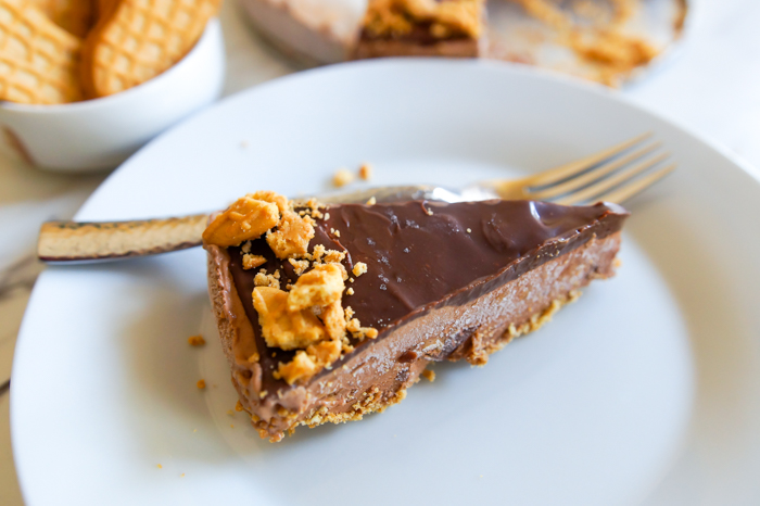 Chocolate Peanut Butter Ice Cream Pie ::: only 5 ingredients!