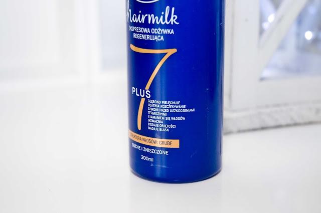 Nivea, Hairmilk, ekspresowa odżywka regenerująca do włosów suchych i zniszczonych