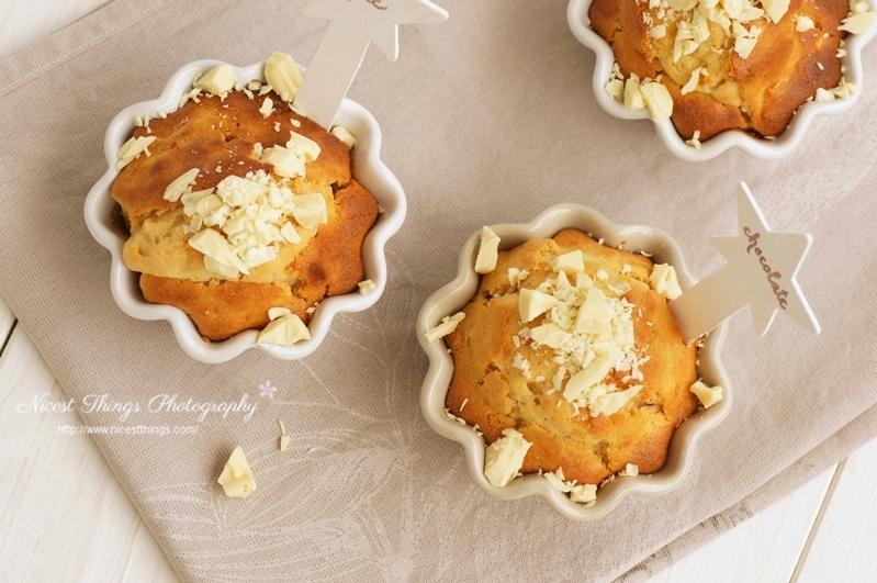 Kürbis Muffins mit Butternut und weißer Schokolade