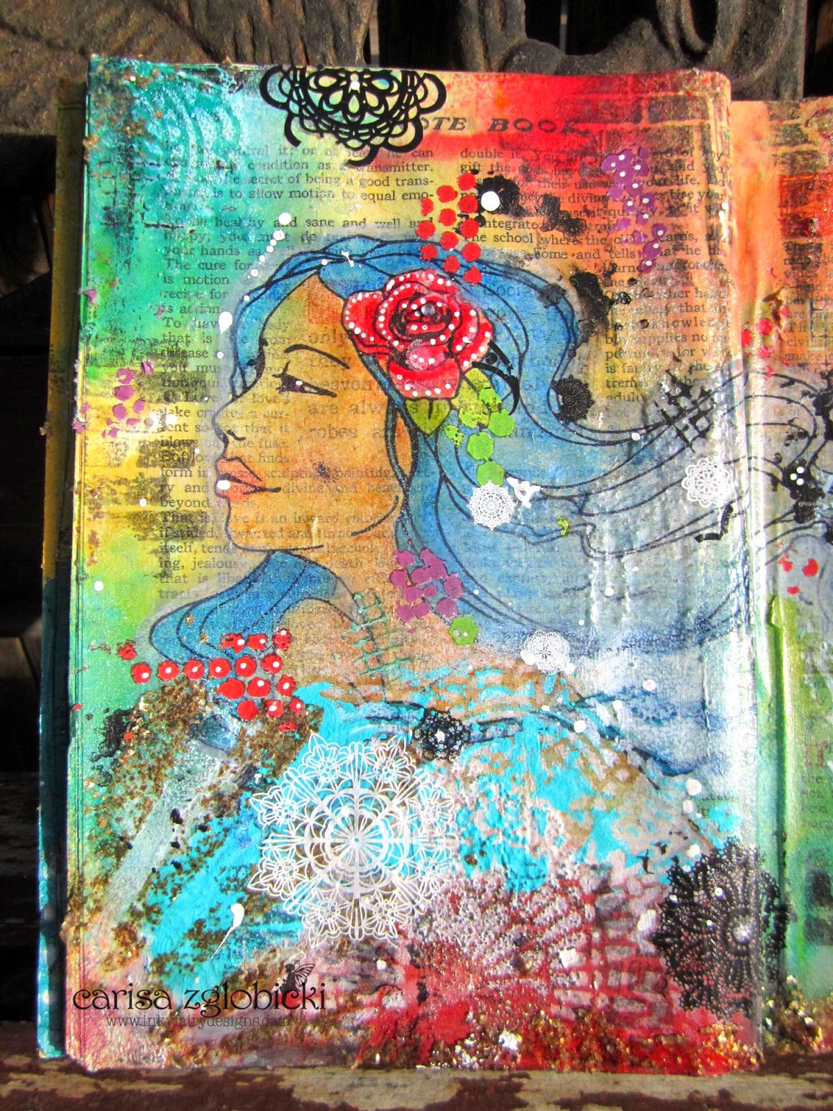 Inky Fairy Designs: Mixed Media Monday - Art Journal with ...