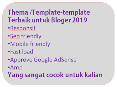 Download Template/Tema Bloger XML SEO Friendly Terbaik 2019