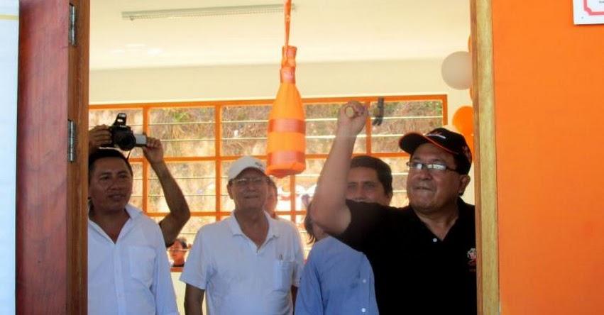 Inauguran moderna infraestructura educativa en centro poblado Costa Rica en la región San Martín