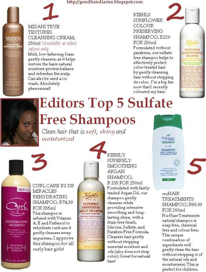 Editors Top 5 Sulfate Free Shampoos - Good Hair & Beauty Diaries - A South African Mommy, Hair ...