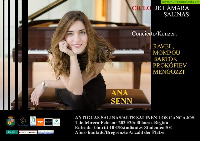 SALINAS: Ana Senn, desde Galicia, al piano