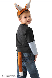 Fox Ears and Tail Kids Costume from Theatrical Threads Ltd
