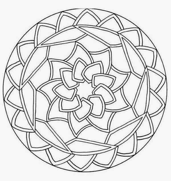 Rounds Mandala Coloring Pages For