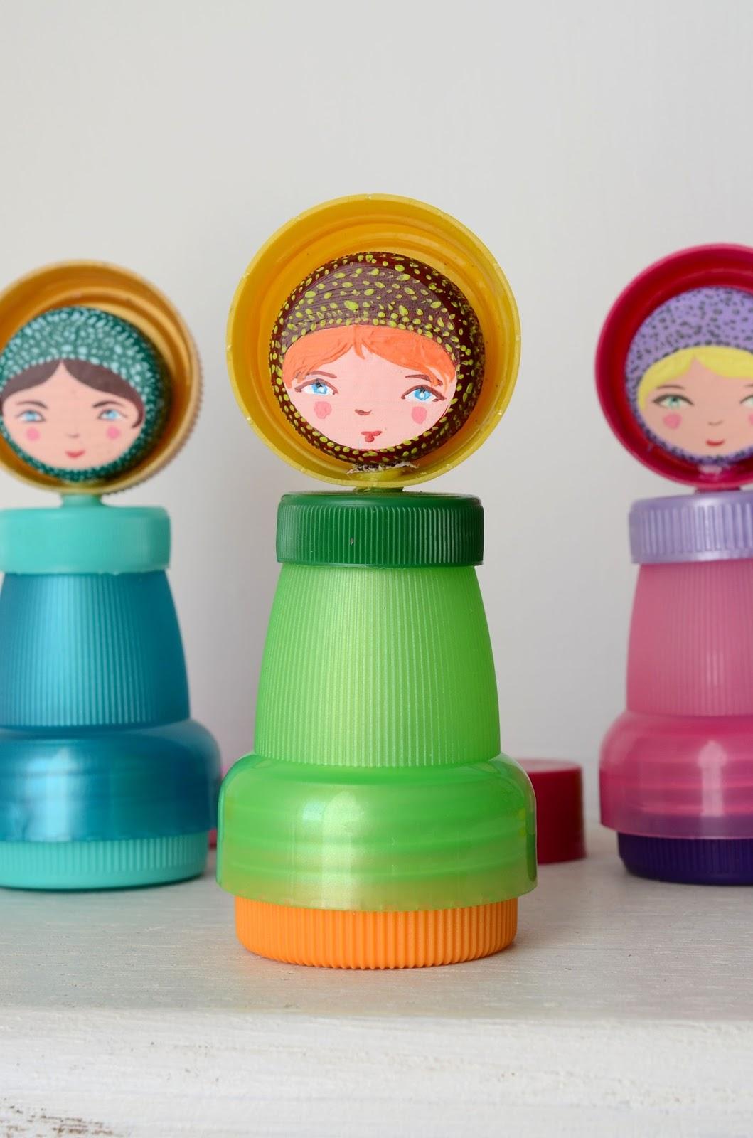 Preferenza Linfa Creativa: Piccole bambole realizzate con materiale di riciclo JH07