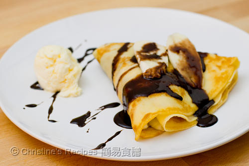 Banana Chocolate Crepe