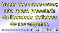 Frases de Charlie Chaplin sobre Erros