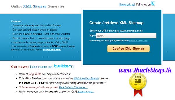 XML Sitemap Generator   creates Free Google site maps online