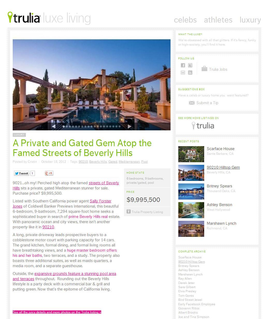 Trulia Real Estate Listings Homes For Sale Housing Data: Trulia.com Blog Features 2300 Kimridge Road!