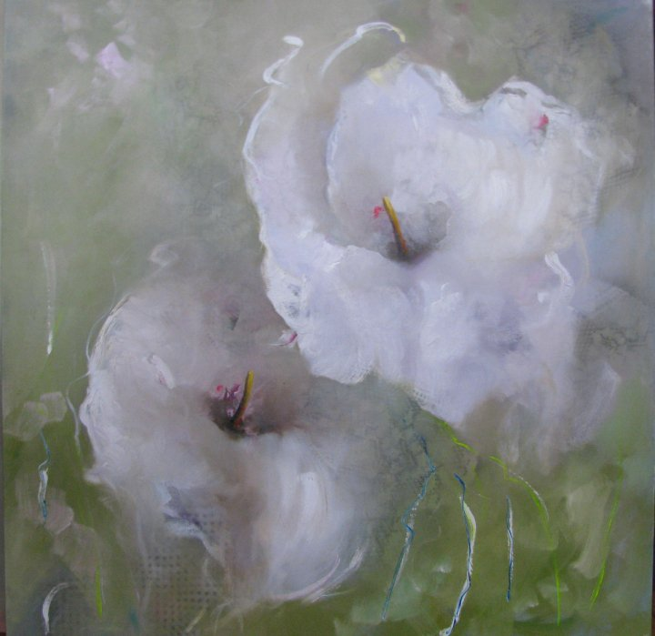 Victoria Montesinos | Mexican Impressionist Floral's painter | Waiting for Mr. Butterfly