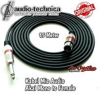 Kabel Mic XLR Audio Female To Jack Akai Mono Canon Canare 15 Meter