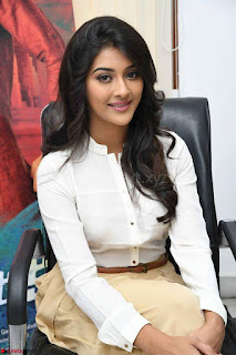 Pooja Jhaveri in White Shirt and Brown Trousers Spicy Pics 01.jpg