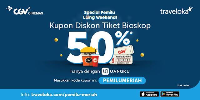 #CGV - #Promo Special Pemilu Long Weekend & Diskon 50% Pakai UANGKU (s.d 21 April 2019)