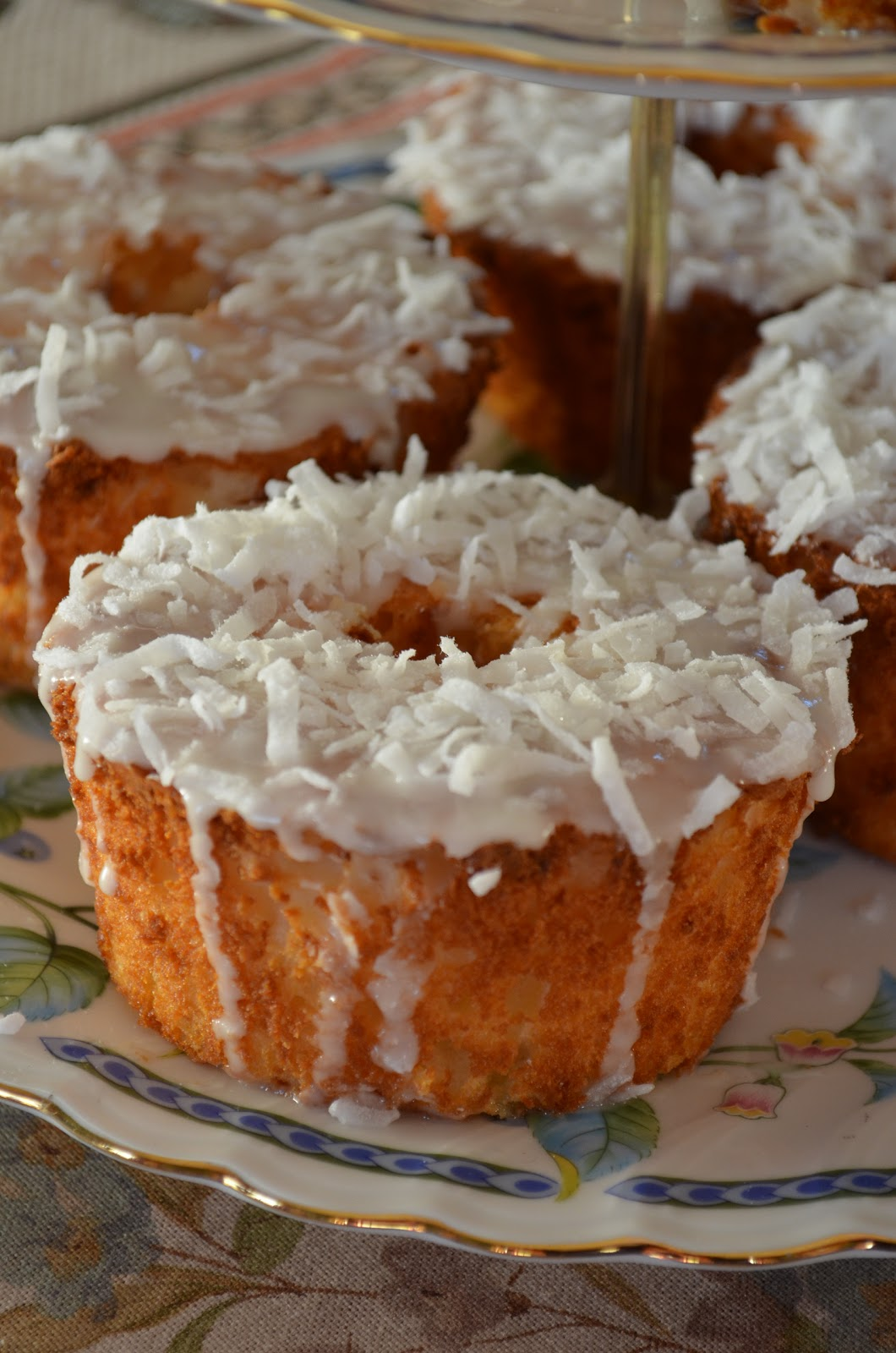 Sheilah S Kitchen Mini Pineapple Coconut Angel Food Cakes