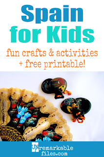 Learning about Spain is fun and hands-on with these free crafts, ideas, and activities for kids! #spain #educational