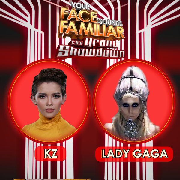 KZ Tandingan impersonates Lady Gaga on 'YFSF' Grand Finals