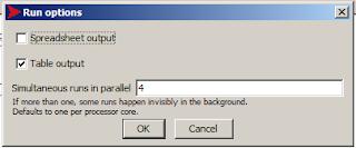 NetLogo BehviorSpace Run options spreadsheet table output