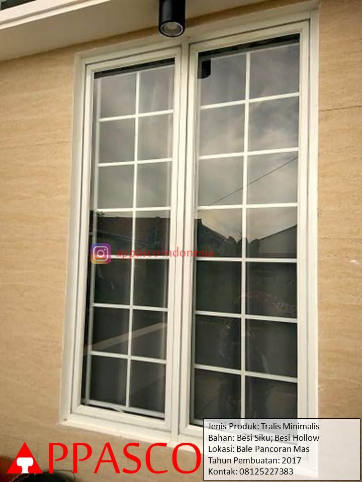 Teralis jendela besi Hollow Model Minimalis