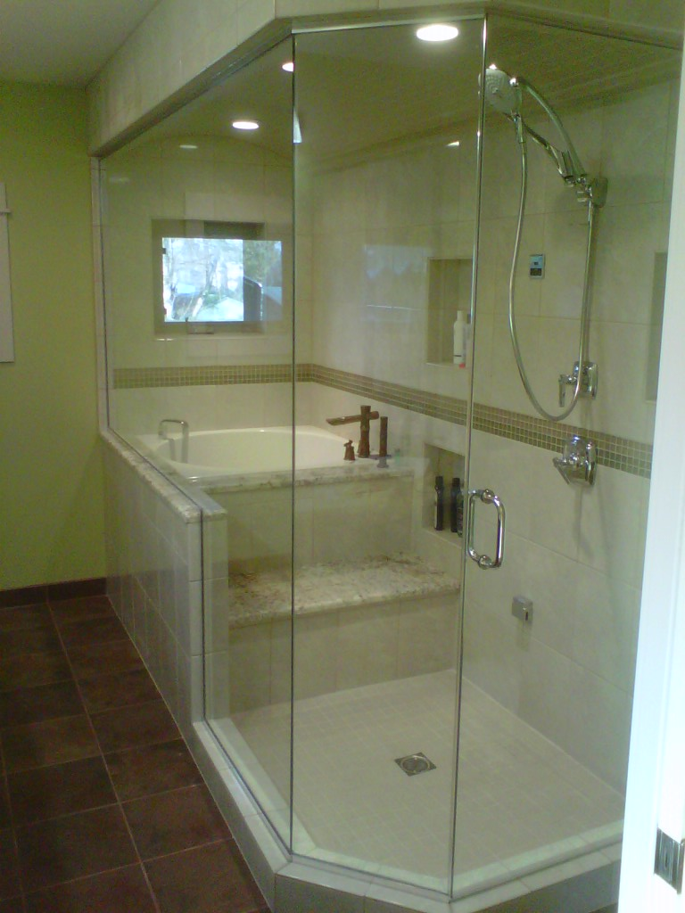 New style kbp arrow addition master suite steam shower - Deep soaking tub for small bathroom ...