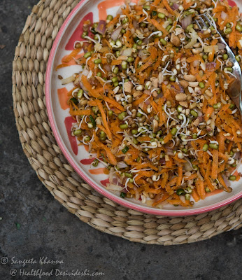 sprouts and carrot salad