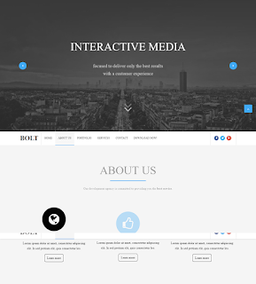 Template Bisnis BOLT BLOGGER TEMPLATE.