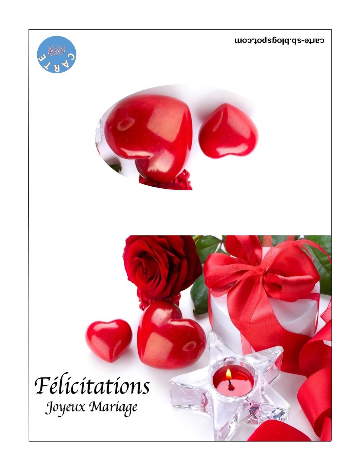 Carte Gratuite A Imprimer Carte Felicitation Mariage A Imprimer