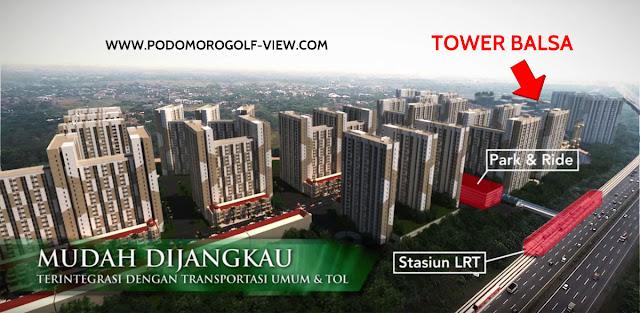 Tower Balsa Podomoro Golf View Apartment PGV Cimanggis Depok