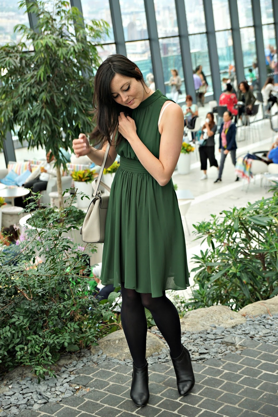 My Green Dress from Zara