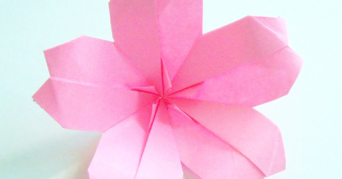 perfect easy Origami Cherry Blossom ~ origami instructions ... - photo#22