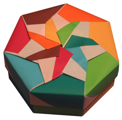 origami maniacs heptagon box by tomoko fuse. Black Bedroom Furniture Sets. Home Design Ideas