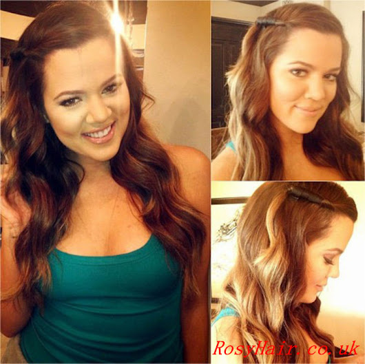 Khloe Kardashian's Little Side-Twisted Hairstyle