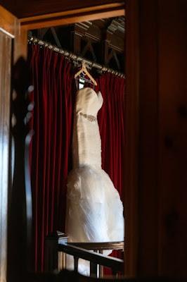wedding dress hanging at Estate on the Halifax