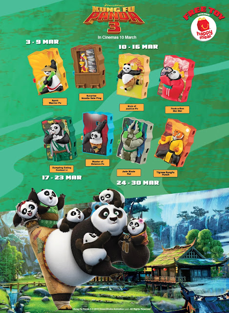 McDonald's Kung Fu Panda 3 Happy Meal Toys