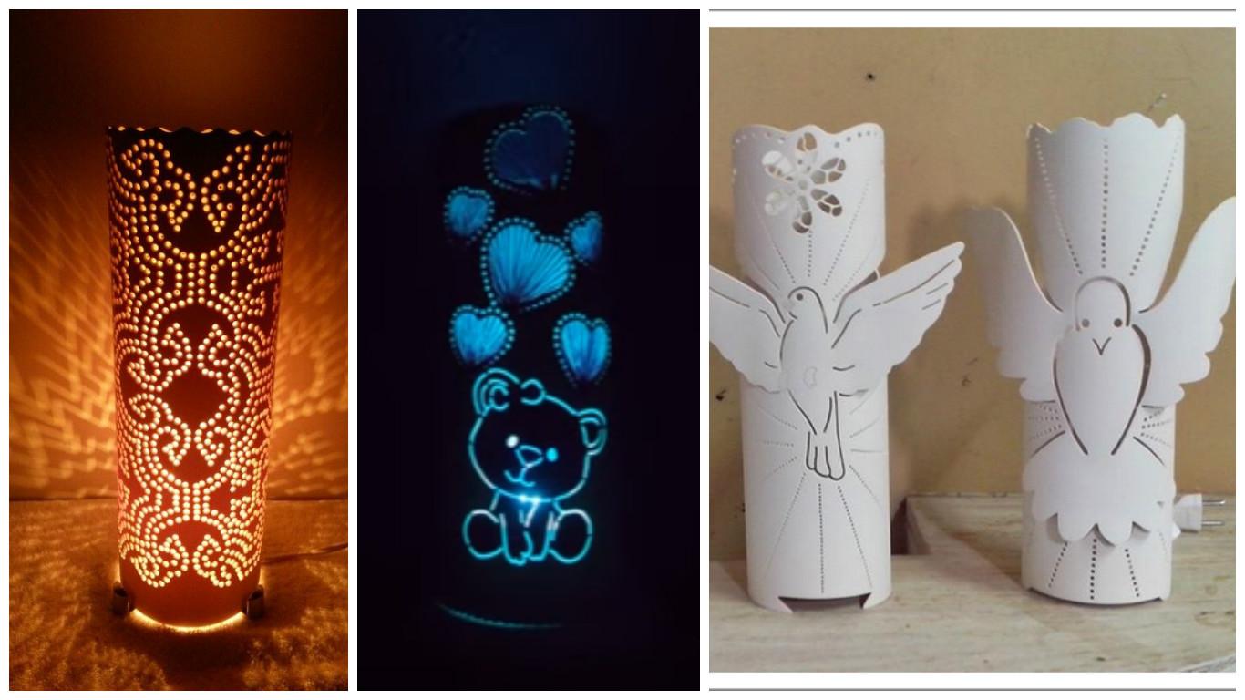 19 manualidades con tubos de pvc que puedes hacer en casa - Manualidades con lamparas ...