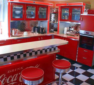 American Diner Küche – Wohn-design