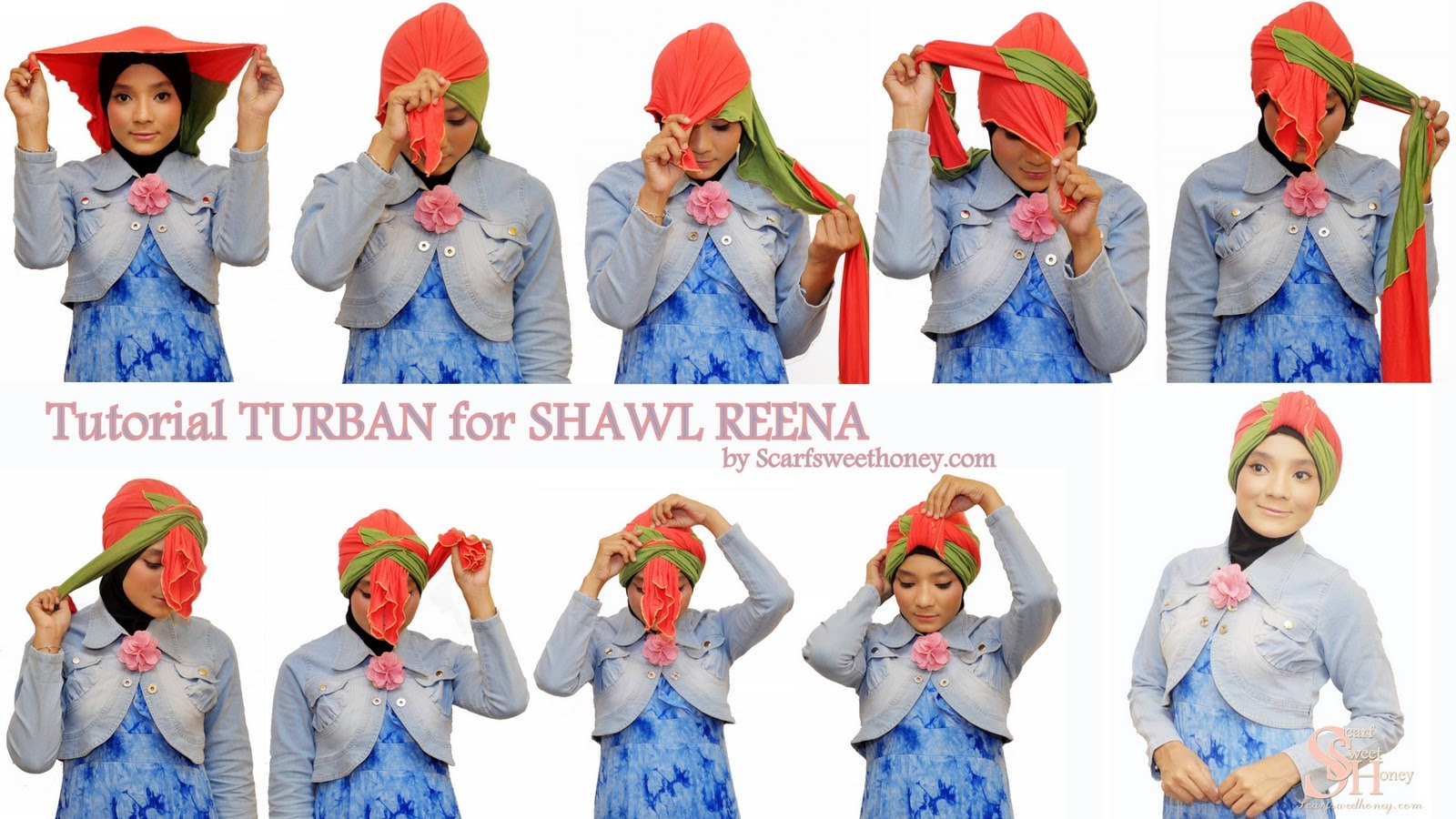 Tutorial Hijab Turban Pesta Ala Dian Pelangi Tutorial Hijab Paling