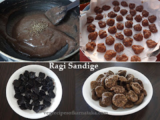 Ragi sandige recipe in Kannada