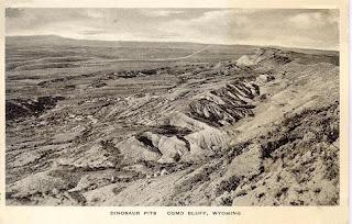 Excavación de dinosaurios en Como Bluff