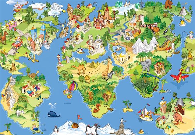карта достопримечательностей мира
