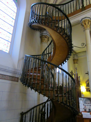 the miracle stairs at the Loretto Chapel