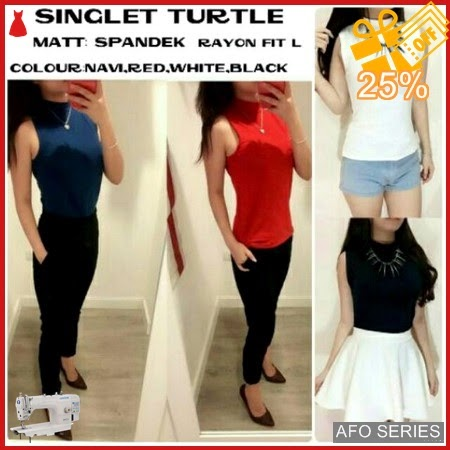 AFO431 Model Fashion Turtle Singlet Modis Murah BMGShop