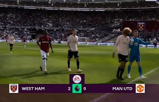 HT: West Ham vs Manchester United 2-0 Highlights